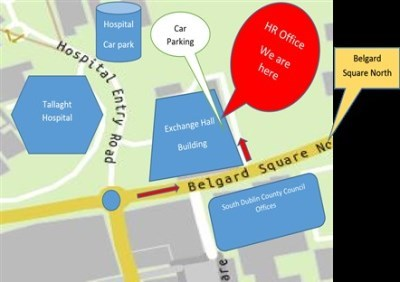 Map & directions to Tallaght Hospital