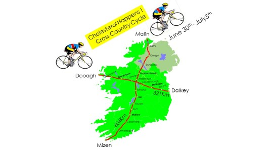 Cycle map, Carioloogy, Lipid Management, Charity Cycle
